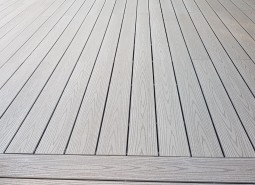 grey solid wpc decking