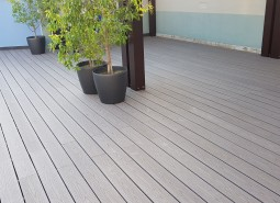 wpc solid decking grey
